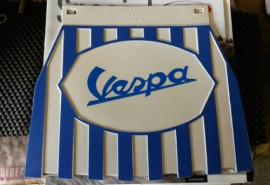 Vespa Blue & White Stripe Mudflap