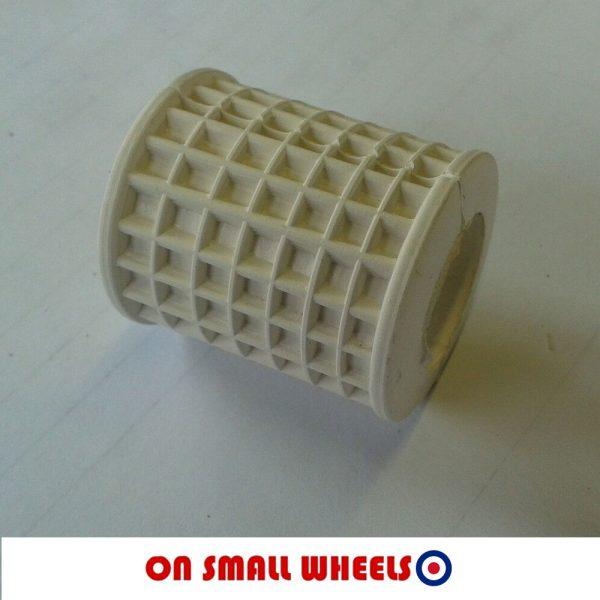 white vespa kickstart rubber