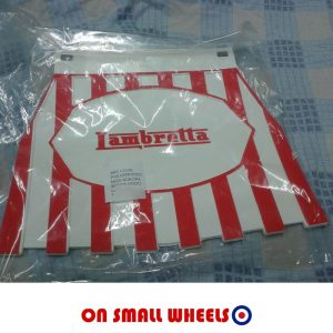 Lambretta red stripe mudflap