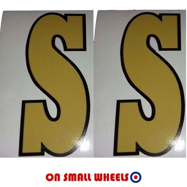 Vespa SS Gold Decal